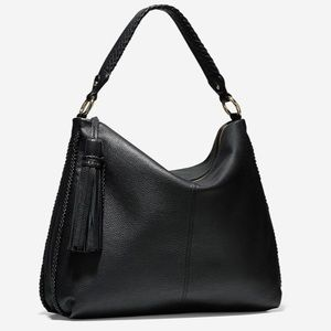 Cole Haan Adelee pebbled leather hobo Bag + tassel